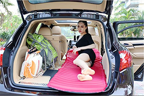R&R Multifunctional Ultralight Mobile Inflatable Bed Cushion Camp Pad-Perfect Sleeping Pads for Camping, Backpacking, Hiking, Hammocks, Tents,Car,SUV, Travel , pink by POTA