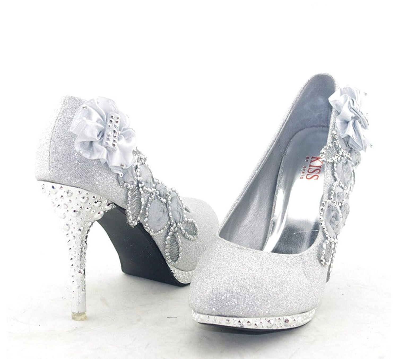 Amazon.com | Getmorebeauty Women's Silver Lace Flower Pearls ...
