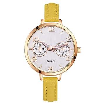 Weiwei Grandes Relojes para Mujer Relojes de Hora Top Marca Cuarzo Reloj Mans patrón reticular Cuero Deporte Reloj de Pulsera Reloj: Amazon.es: Hogar