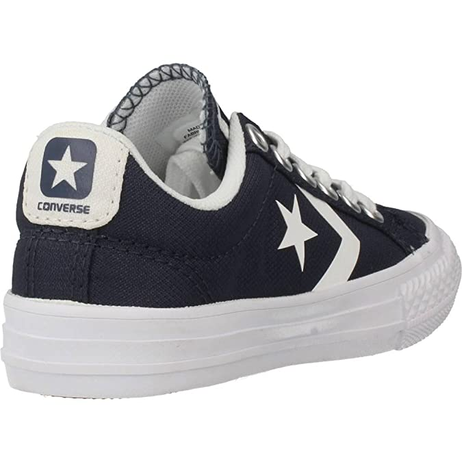 Amazon.com | Converse Youth Star Player Ev Ox Athletic Navy White Canvas Trainers 6 US | Sneakers