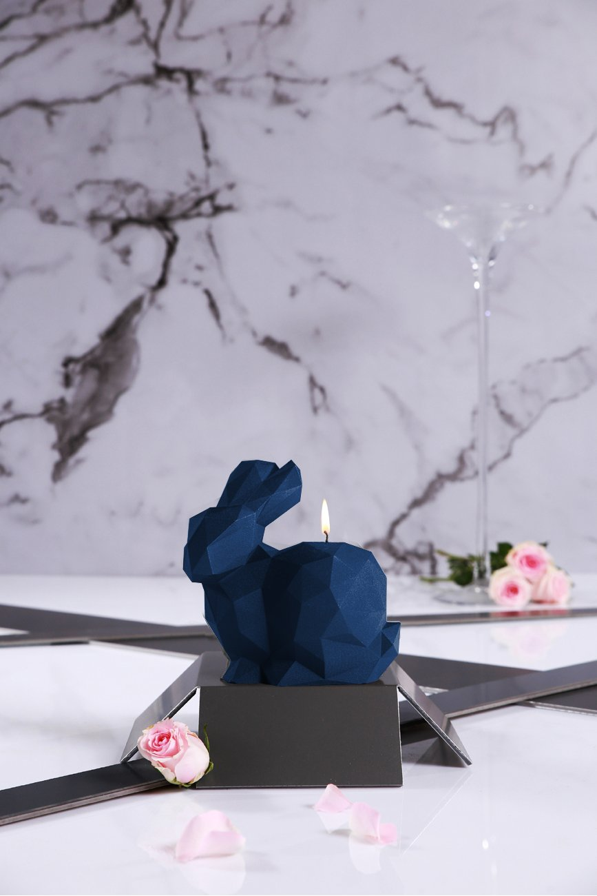 Candellana Candles Candellana- Giant Rabbit Candle-Dark Blue Large by Candellana Candles (Image #4)