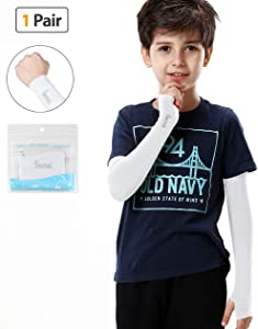 SHINYMOD UV Protection Arm Sleeves 1 Pair/3 Pairs UPF 50+ Cooling Sunblock or Arm Warmer Sleeves for Kids with/No Thumb Hole