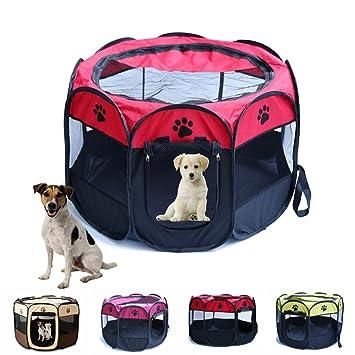 Yiitay - Tienda de campaña para mascotas portátil Oxford jaula grande para perro, gato: Amazon.es: Productos para mascotas