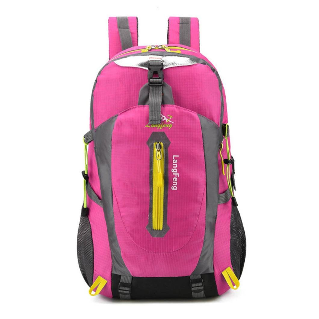 Hometom Men Mowen Outdoor Backpack For Camping Travel Hiking (Hot Pink)