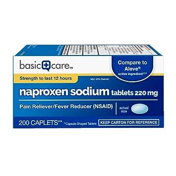 Amazoncom Basic Care Naproxen Sodium Tablets 200 Count Health