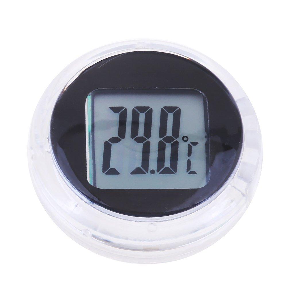 Baosity 4Pcs Motorcycle Electronic Temperature Meter Gauge Mini Digital Thermometer