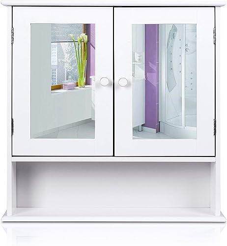 HOMFA Bathroom Wall Cabinet Multipurpose Kitchen Medicine Storage Organizer