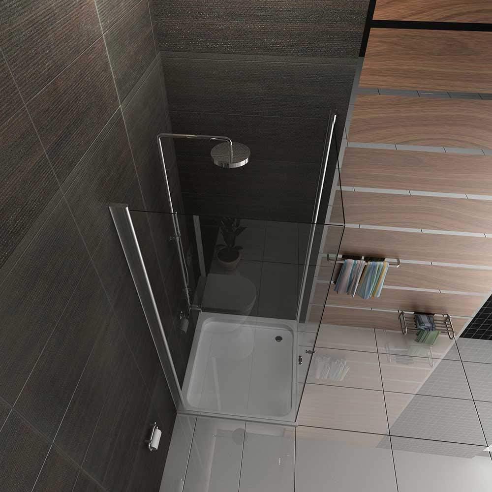 EasyClean Duschwand aus Einscheibensicherheitsglas ESG Duschabtrennung  Komplett Dusche Lotus-Effekt T/ÜV gepr/üft KAGE Eckeinstieg Duschkabine 90x90x195cm 2-t/ürig mit Antikalk Echtglas