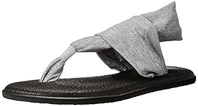 Amazon.com | Sanuk Womens Yoga Sling 2 Metallic Sandals ...