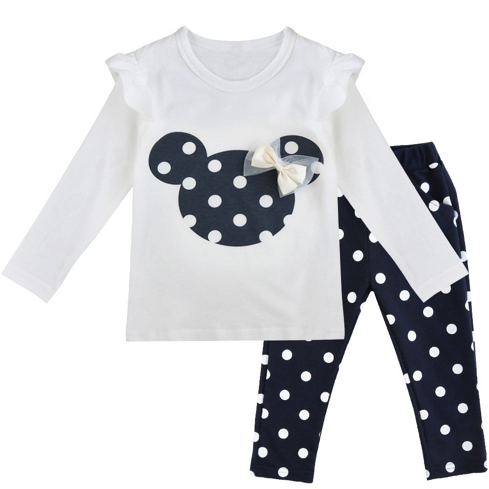 Pants Bekleidungsset Outfits iEFiEL Baby M/ädchen Kleidung Set Top Langarm Shirt