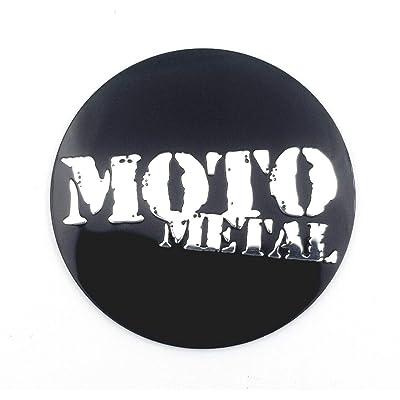 "Moto Metal 1.59"" (40.5MM) Gloss Black Wheel Center Hub Cap Logo Sticker: Automotive"