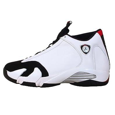 100% authentic 359eb f43f3 Nike Mens Air Jordan 14 Retro Black Toe Leather Athletic Sneakers