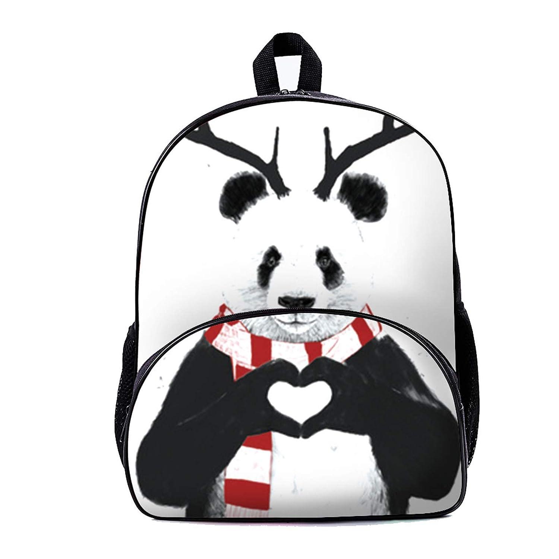 スクールバックパック トラベルバックパック ラップトップバッグ キャンバス防水ノートブックバッグ カスタムパターンフロントポケット 女の子/男の子/学生/大学/旅行/女性/男性 Bearcat Panda かわいい動物   B07GYXGKTZ
