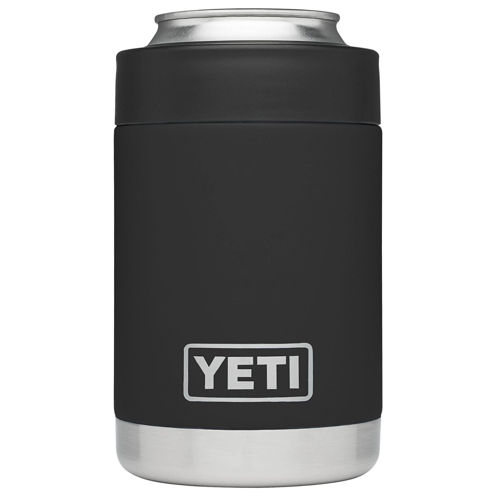 YETI Rambler Vacuum Insulated Stainless Steel Colster, Black DuraCoat by YETI