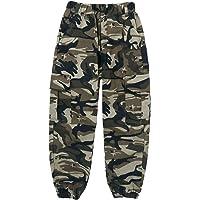 Aislor Pantalones para Niños Cargo Camuflados Militar Pantalón Callejera Urbana de Moda Chándal Deportivo Cintura…