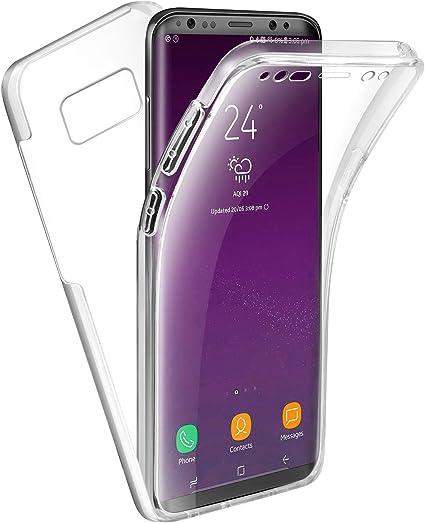 APOKIN Funda Doble Xiaomi Redmi Note 7 Silicona Transparente Delantera y Trasera