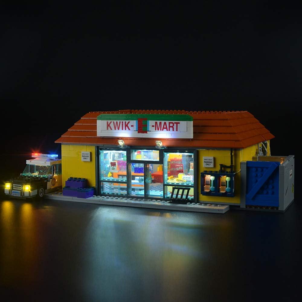 LIGHTAILING Light Set for (Simpsons The Kwik-E-Mart) Building Blocks Model - Led Light kit Compatible with Lego 71016(NOT Included The Model)