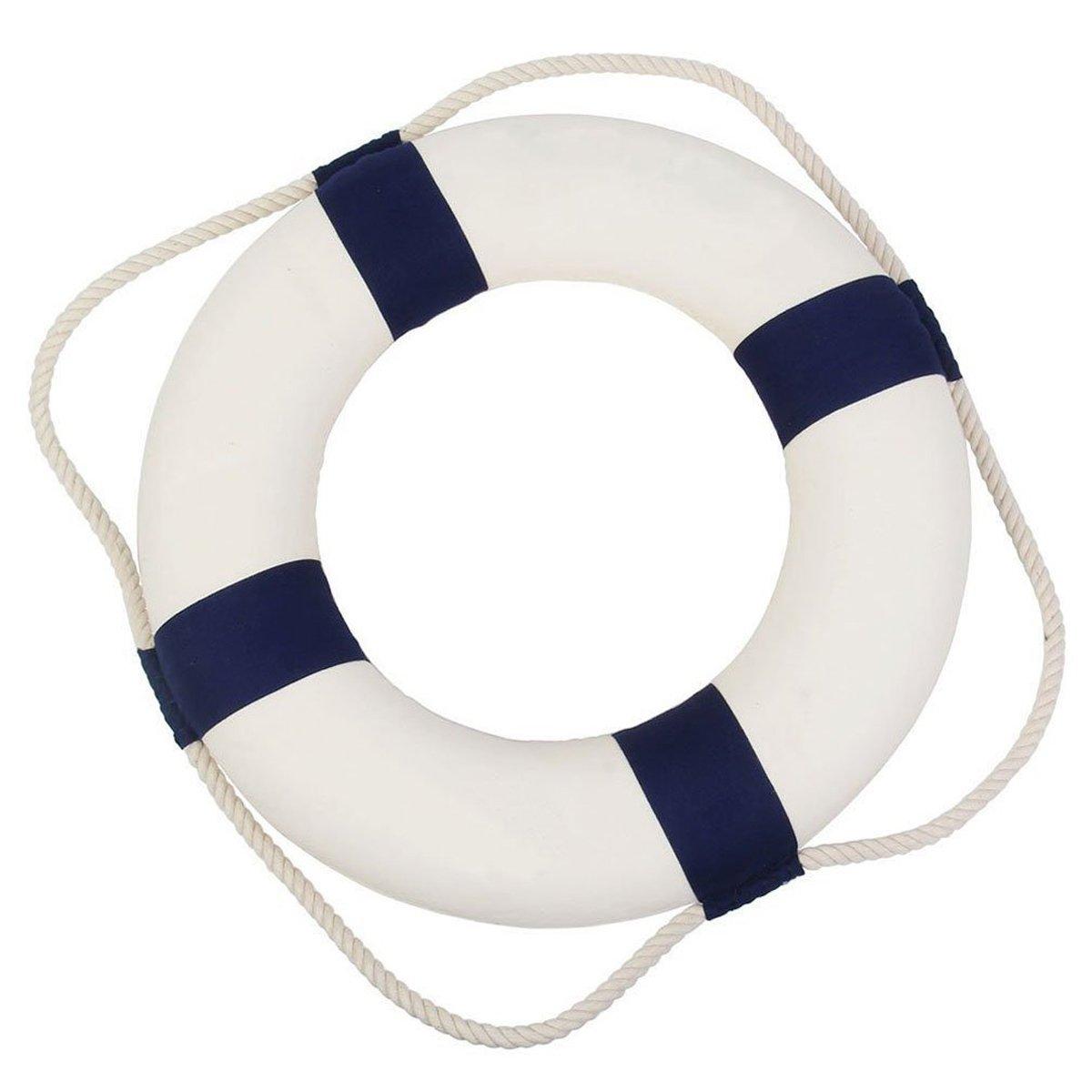Marine, 14cm SUNXIN Bou/ée De Sauvetage Marine M/éditerran/éen Maison D/écoration Ou le Mur Ornements D/écoratifs