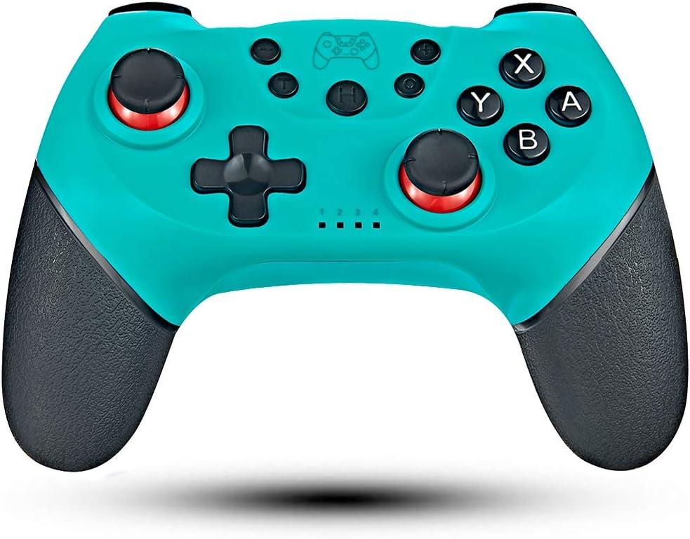 Maegoo Mando Inalámbrico para Nintendo Switch, Bluetooth Wireless Nintendo Switch Pro Mando Controlador Gamepad Joypad Joystick Admite Sensor 6 Gyro Axis, Turbo y Dual Motor Vibration (Azul)