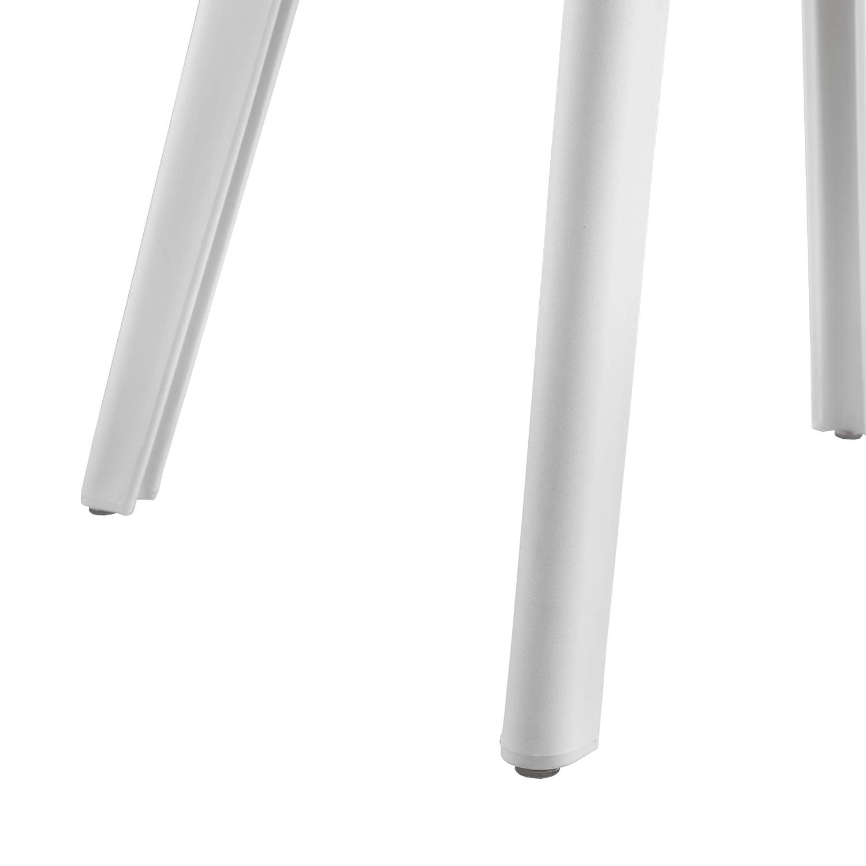 en.casa Sedie per Sala da Pranzo Design 83 x 54 x 48 cm Set di 6 Pezzi Plastica Bianco