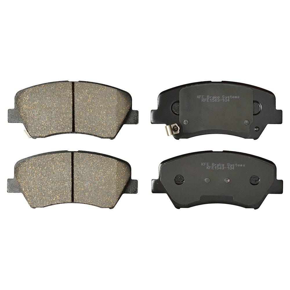 KFE Ultra Quiet Advanced KFE1543-104 Premium Ceramic FRONT Brake Pad Set KFE Brake Systems