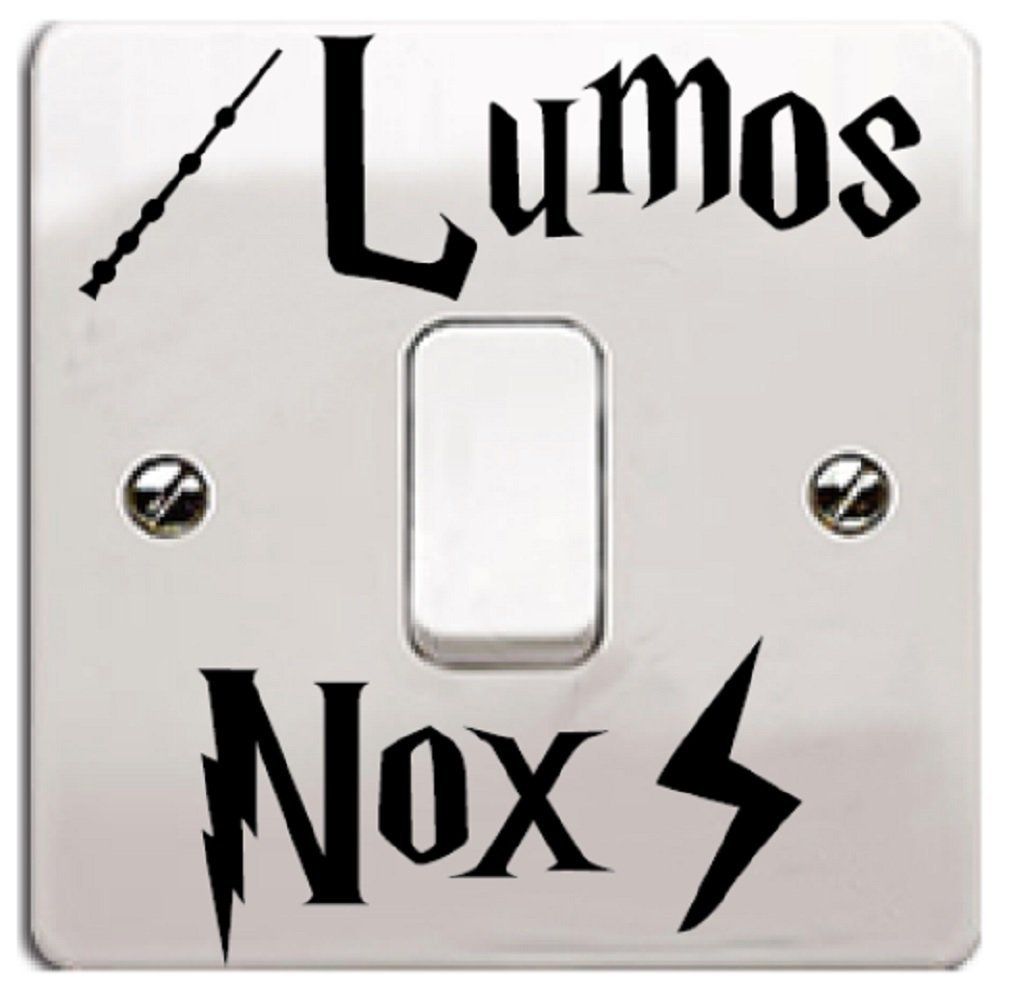 Lumos Nox Vinyl Wall Decal Sticker Black Winsome Faire