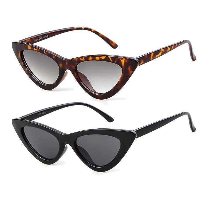 ADEWU Gafas de sol ojo de gato gafas de protección para niñas mujeres, estilo vintage Gafas de sol retro de Kurt Cobain