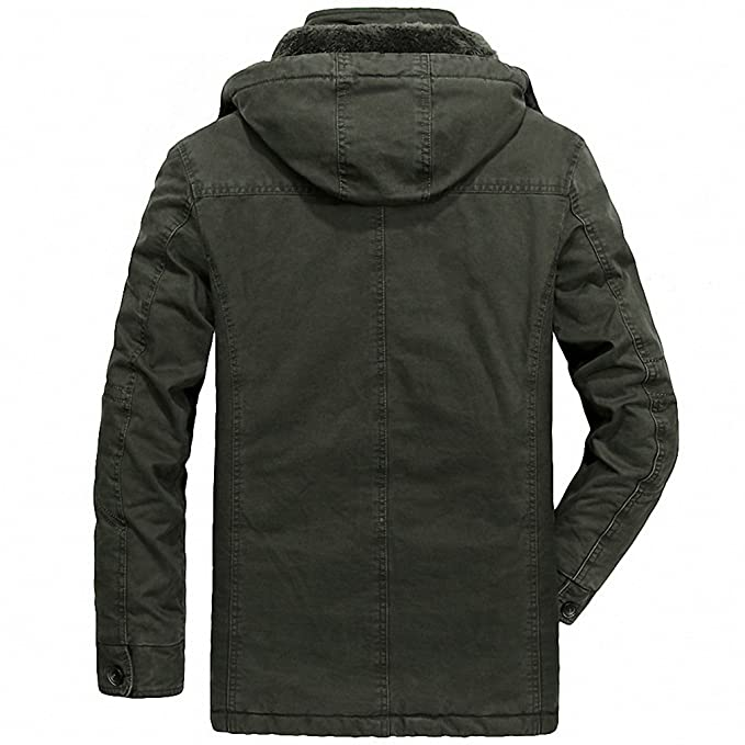 Amazon.com: Winter Mens Jackets And Coats Thick Warm Wool Liner Windbreaker Military Loose Plus Size L-8XL Mens Outerwear: Clothing