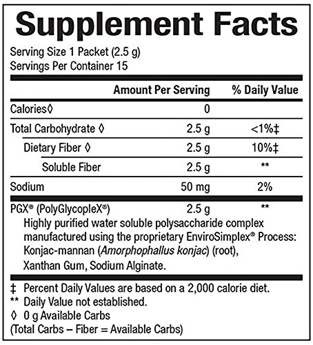 Natural Factors PGX Daily Singles, Easy on the go Assistance with Normalizing Appetite, 2.5g of Granules per Stick, 30 Packets