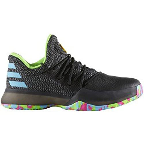 93c1784acd2a adidas Harden Vol. 1 Shoe Junior s Basketball 4 Black-Shock Pink-Yellow