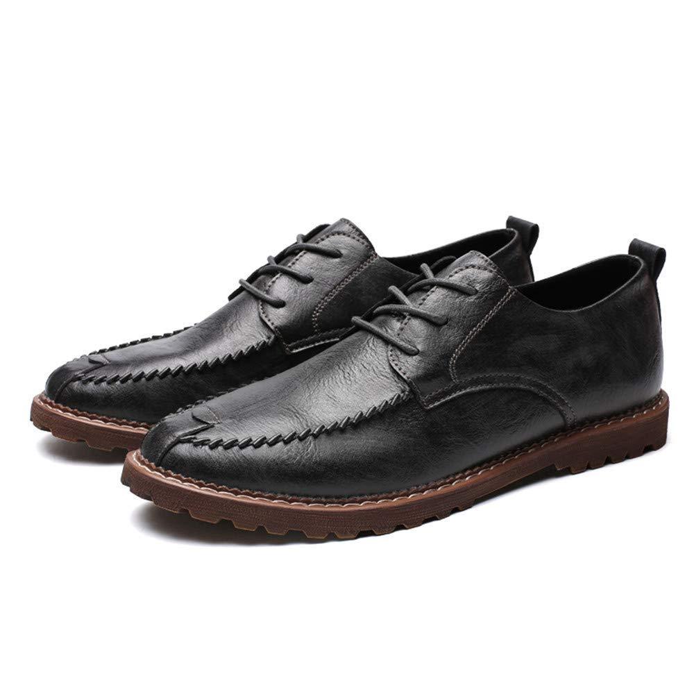 FuweiEncore 2018 Herren Herren Herren Business Oxford Casual Einfache Klassische Runde Kopf Formelle Schuhe (Warm Optional) (Farbe   Light braun, Größe   43 EU) (Farbe   Warm grau, Größe   44 EU) 74479a