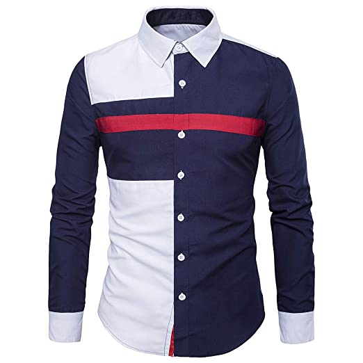 Zyee Clearance Sale Mens Blouse Oxford Formal Casual Long Sleeve