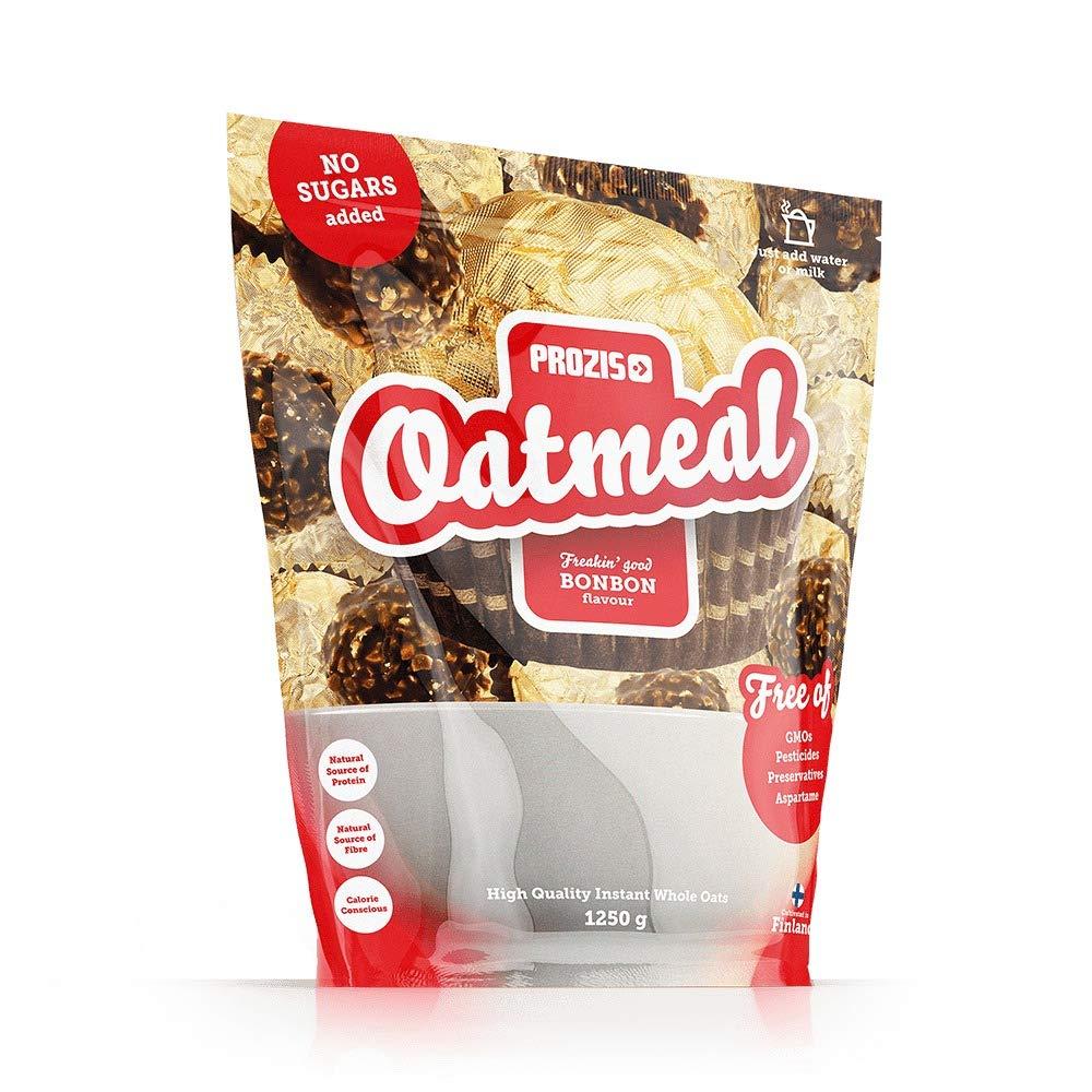 Prozis Oatmeal 1250g - Cereales Repletos de Proteínas, Hidratos de Carbono de Alta Calidad y Fibras Saciantes - Sabor Brownie de Chocolate - Apto para ...