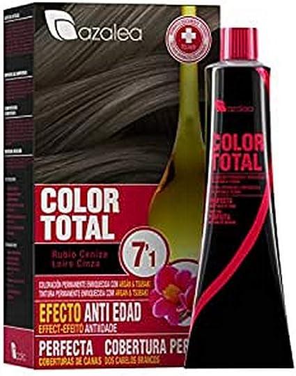 Azalea Total Tinte Capilar Permanente, Color Rubio Ceniza (7.1)