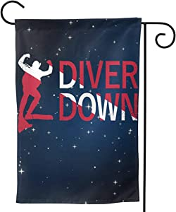 GAJAJAYZXN Diver Down Garden Flag Vertical Double Sided for Yard Home 12.5 X 18 Inch,28 X 40 Inch