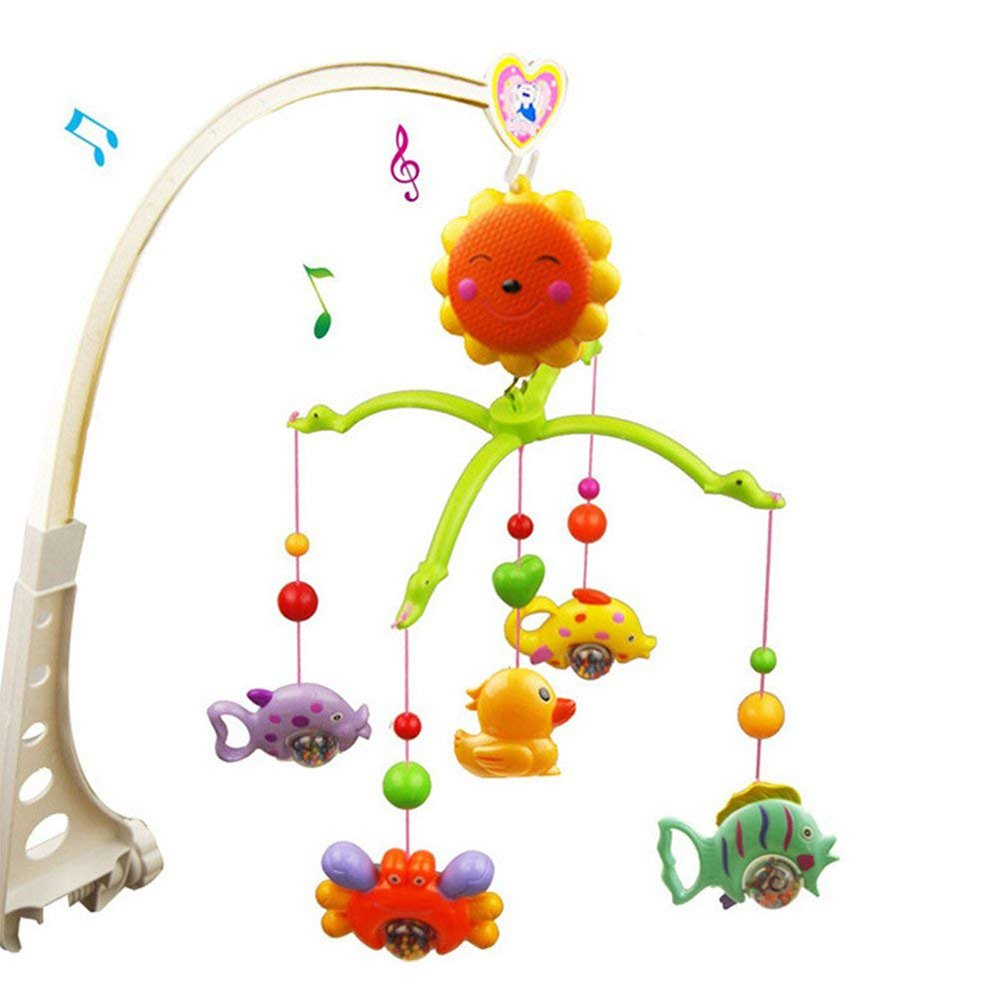 Nursery Crib Musical Cot Mobile Bed Hanging Bell for Baby Bechases