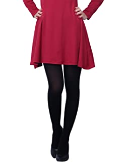 af3ac747eff5e CozyWow Women's 80D Soft Solid Color Semi Opaque Footed Tights at ...