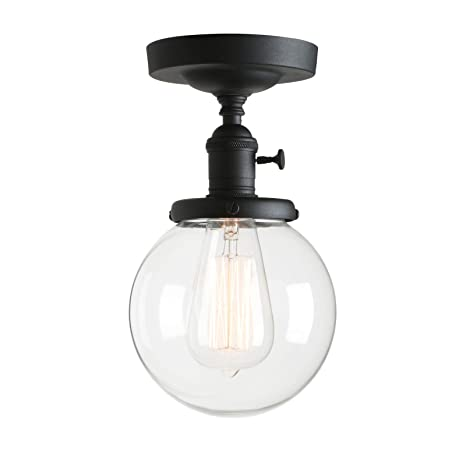 globe lighting fixture large permo vintage industrial mini 59quot round clear glass globe semi flush mount ceiling light fixture 59