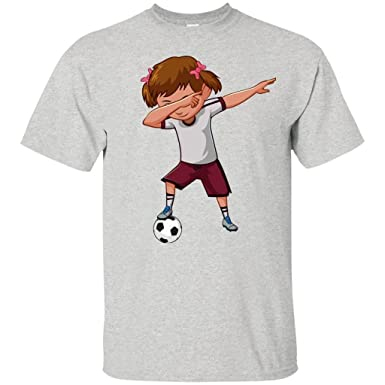 d2e2e4f8a0b Amazon.com: Weezag Soccer Shirt For Girls Men Women Cute Funny Dabbing  Dance Soccer T Shirt: Clothing