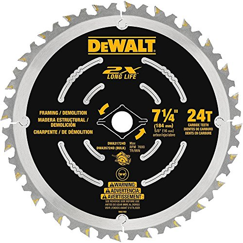DEWALT DWA31724D Demolition Saw Blade, 7-1/4