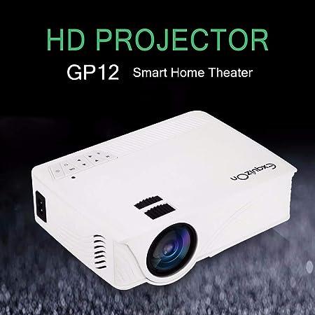 ZXGHS Mini Proyector Portatil, Proyector LED 1800LM Lúmenes/Soporte 1920 * 1080 Píxeles/Teatro En Casa Proyector De Cine De TV,Blanco: Amazon.es: Hogar