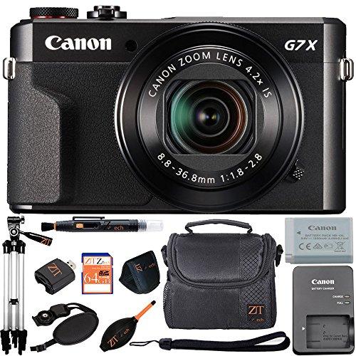 Canon PowerShot G7 X Mark II 20.1MP 4.2x Optical Zoom Digital Camera and Built-in WiFi/NFC (Advanced Bundle)
