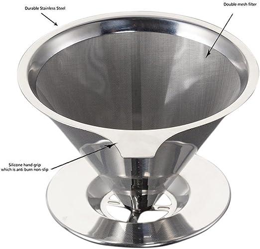Pawaca Filtro de café reutilizable de acero inoxidable, sin papel ...