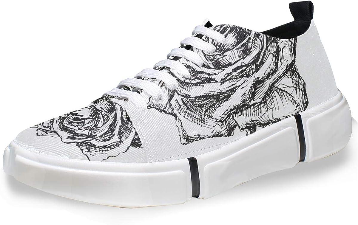 FANTAZIO Rose Drawing - Zapatillas deportivas para correr ...