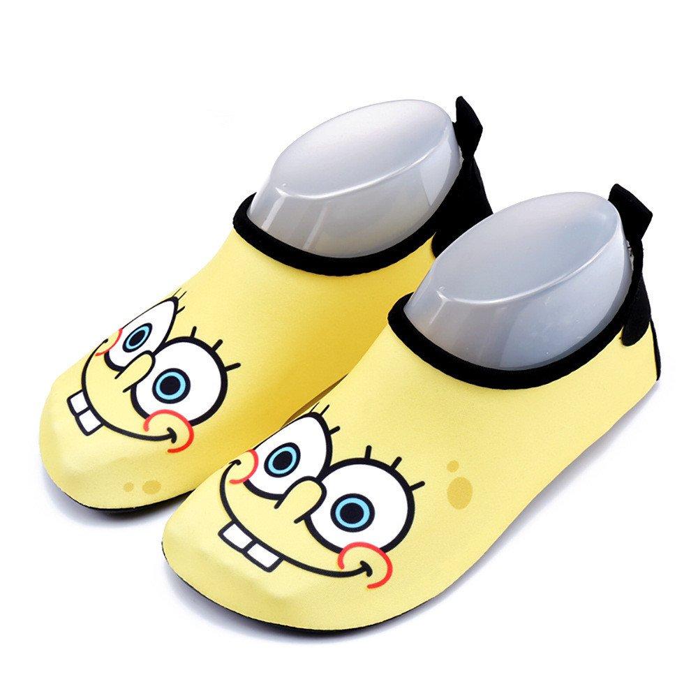 HuiGo Kids Water Shoes, Cartoon Quick Dry Athletic Barefoot Socks for Toddler Boys Girls on Beach Swim Pool Walking