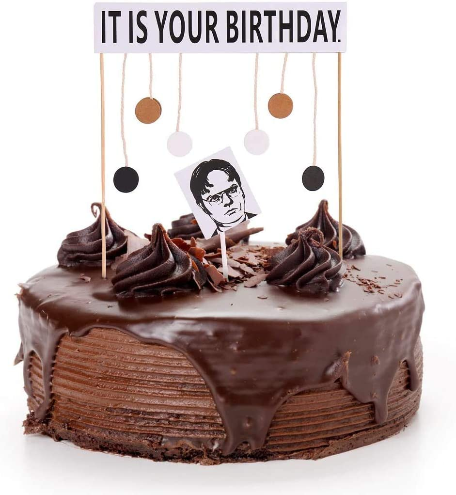 It Is Your Birthday Cake Topper Office Theme Dwight Schrute Birthday Party Supplies Decorations Gifts