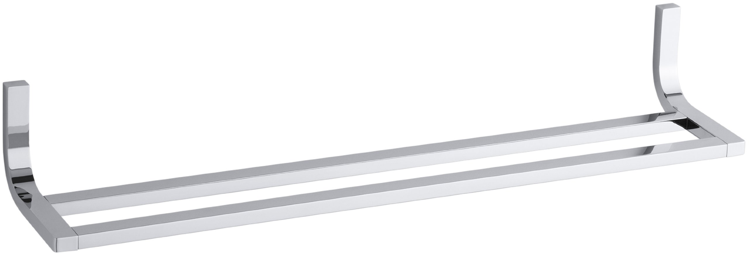 Kohler K-11582-CP Loure 24-Inch Double Towel Bar, Polished Chrome