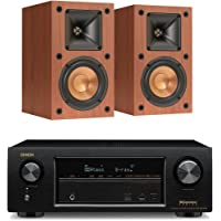Denon AVR-X1300W 7.2 Channel 4K UHD Network A/V Receiver with Klipsch R-14M Monitor Speakers