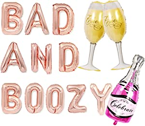 JeVenis Bad And Boozy Decorations Bach and Boozy Balloons Bad and Boozy Banner Banner Bach and Boozy Sign Bachelorette Decor Bach Balloons