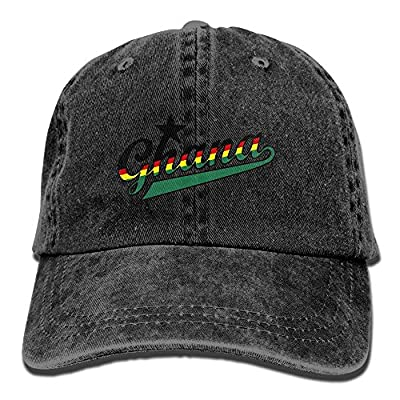 SARA NELL Unisex Adult Ghana Vintage Adjustable Baseball Cap Denim Dad Hat
